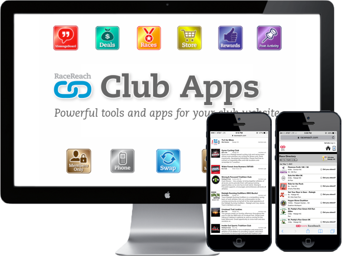 RaceReach Registration - Club Apps